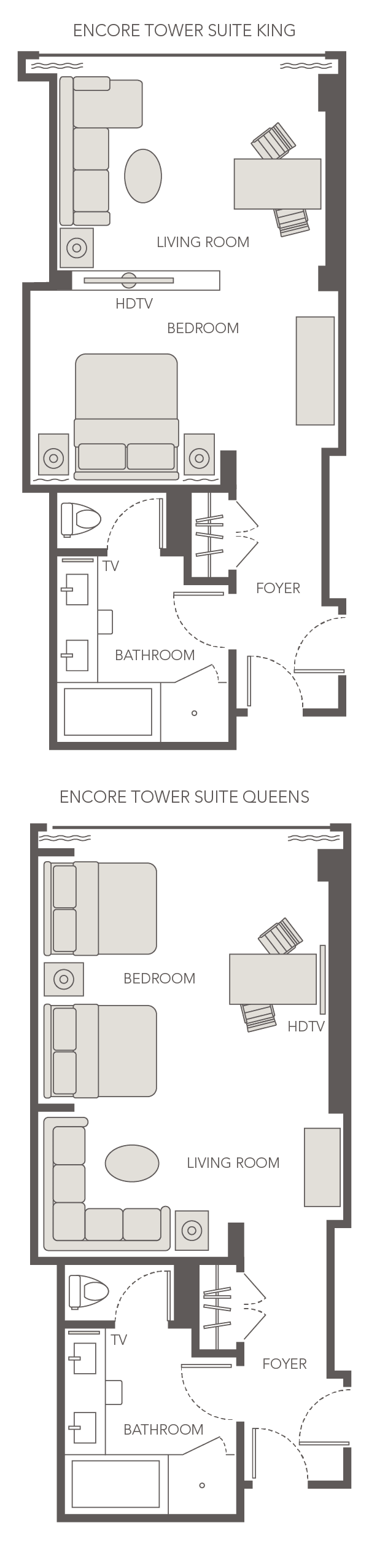 Encore Tower Suite King Queen